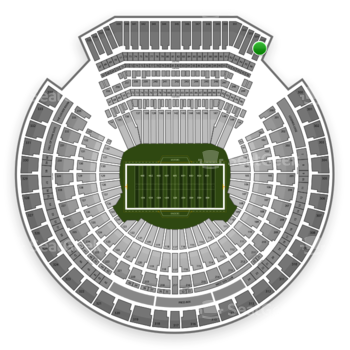 Oakland Raiders at Oakland-Alameda County Coliseum Section 355 View