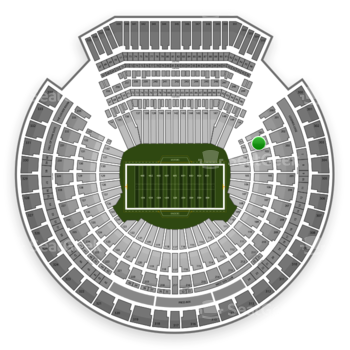 Oakland Raiders at Oakland Coliseum Section 102 View