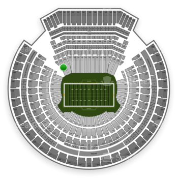 Oakland Raiders at Oakland Coliseum Section 135 View