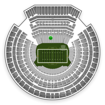 Oakland Raiders at Oakland Coliseum Section 141 View