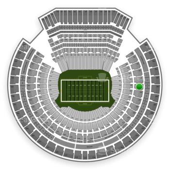 Oakland Raiders at Oakland Coliseum Section 205 View