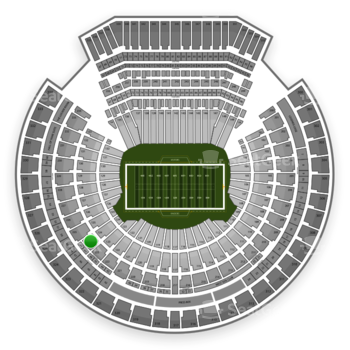 Oakland Raiders at Oakland Coliseum Section 224 View