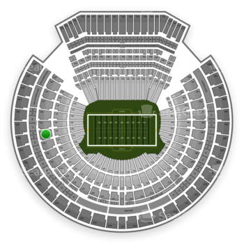 Oakland Raiders at Oakland Coliseum Section 228 View
