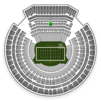 Oakland Raiders at Oakland Coliseum Section 242 View