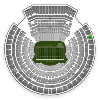 Oakland Raiders at Oakland Coliseum Section 302 View