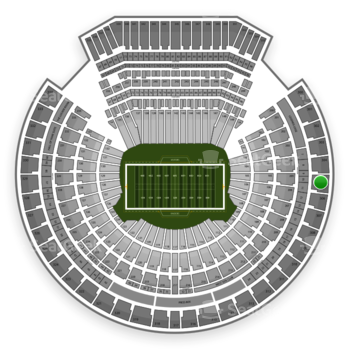 Oakland Raiders at Oakland Coliseum Section 305 View