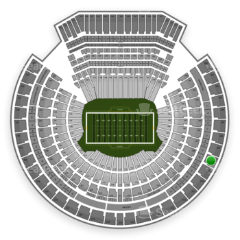 Oakland Raiders at Oakland Coliseum Section 308 View