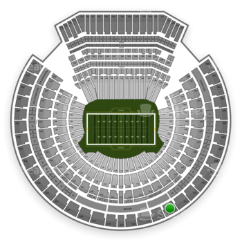 Oakland Raiders at Oakland Coliseum Section 313 View