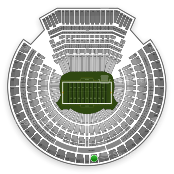 Oakland Raiders at Oakland Coliseum Section 316 View