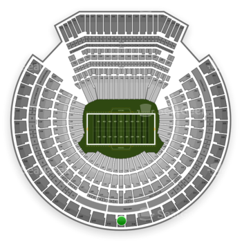 Oakland Raiders at Oakland Coliseum Section 317 View