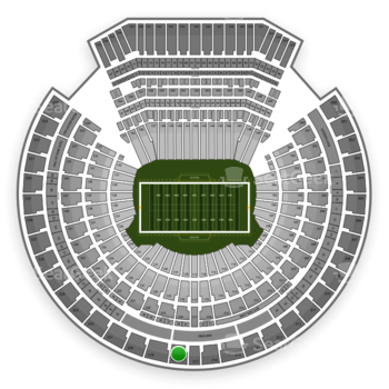 Oakland Raiders at Oakland Coliseum Section 318 View