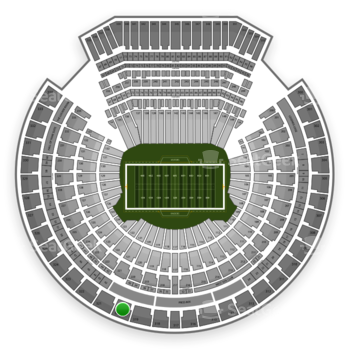 Oakland Raiders at Oakland Coliseum Section 320 View