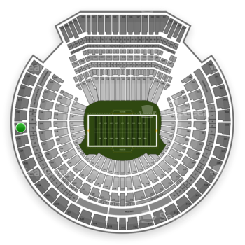 Oakland Raiders at Oakland Coliseum Section 329 View