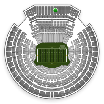 Oakland Raiders at Oakland Coliseum Section 346 View