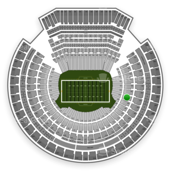 Oakland Raiders at O.co Coliseum Section 107 View