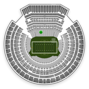 Oakland Raiders at Overstock.com Coliseum (formerly Oakland Coliseum) Section 140 View