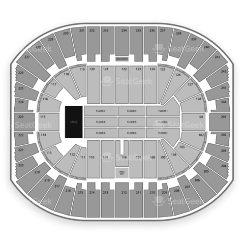 Izod Center seating chart One Direction