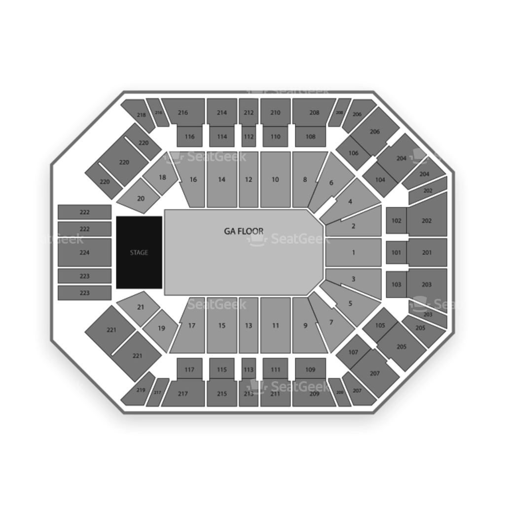 mgm grand garden arena seating chart concert u0026 interactive map