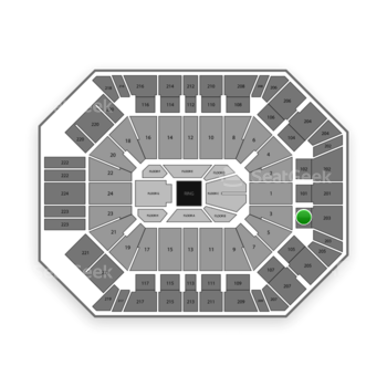 Boxing at MGM Grand Garden Arena Section 103 View