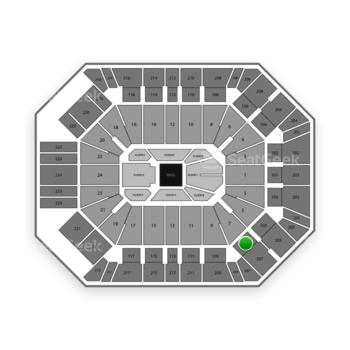 Boxing at MGM Grand Garden Arena Section 107 View