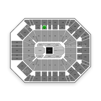 Boxing at MGM Grand Garden Arena Section 114 View