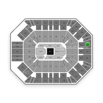 Boxing at MGM Grand Garden Arena Section 202 View