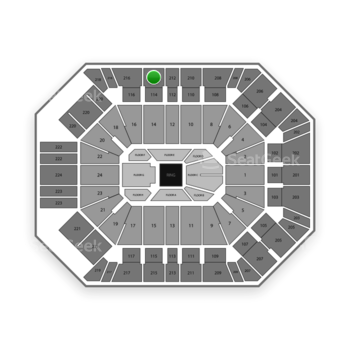 Boxing at MGM Grand Garden Arena Section 214 View