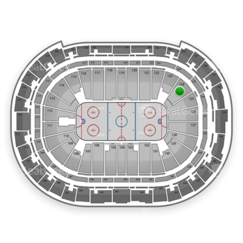Carolina Hurricanes at PNC Arena Section 124 View
