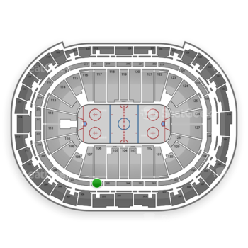 Carolina Hurricanes at PNC Arena Section 206 View