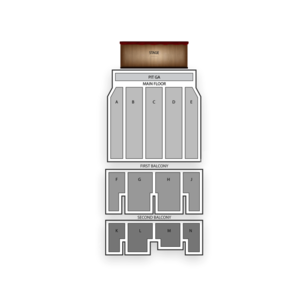 McFarlin Auditorium Seating Chart Concert