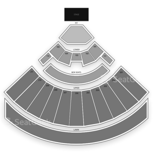 White River Amphitheatre Seating Chart Concert