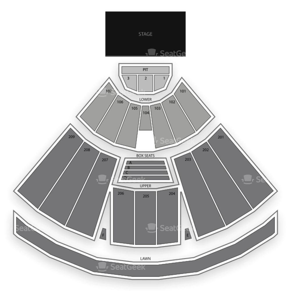 Concord Pavilion Seating Chart Concert