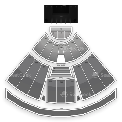 Concord Pavilion seating chart 5 Seconds of Summer