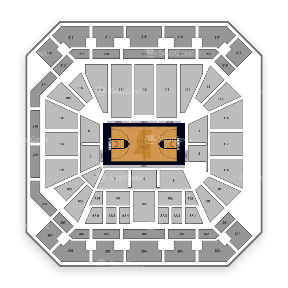 The Pavilion at Ole Miss Seating Chart Concert