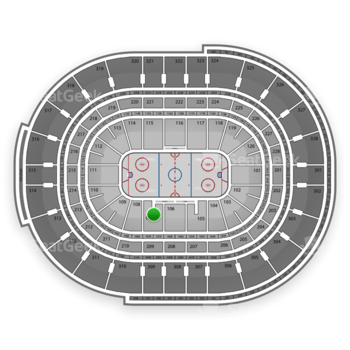 NHL at Canadian Tire Centre Section 107 View