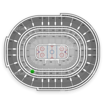 NHL at Canadian Tire Centre Section 211 View