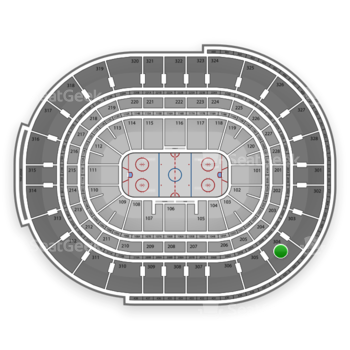 NHL at Canadian Tire Centre Section 304 View