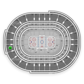 NHL at Canadian Tire Centre Section 314 View