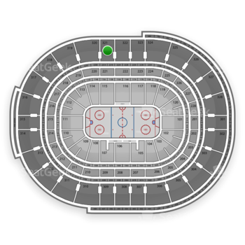 NHL at Canadian Tire Centre Section 321 View