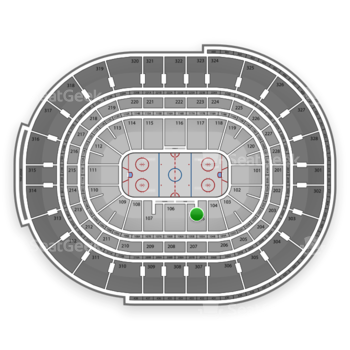 Ottawa Senators at Canadian Tire Centre Section 105 View