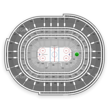 NHL at Canadian Tire Centre Section 101 View