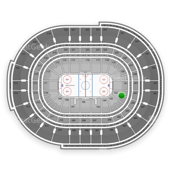 NHL at Canadian Tire Centre Section 102 View
