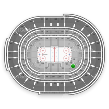 NHL at Canadian Tire Centre Section 103 View