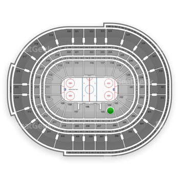 NHL at Canadian Tire Centre Section 104 View
