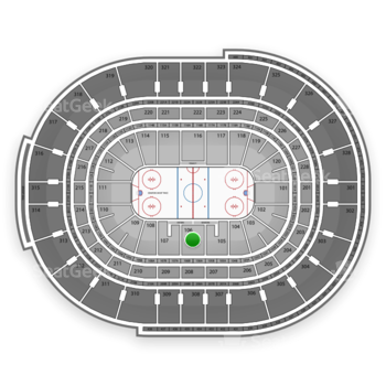 NHL at Canadian Tire Centre Section 106 View