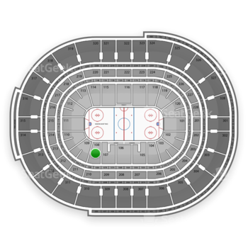 NHL at Canadian Tire Centre Section 108 View
