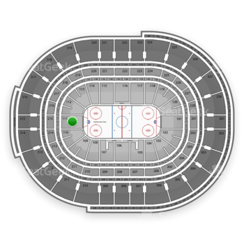 NHL at Canadian Tire Centre Section 111 View