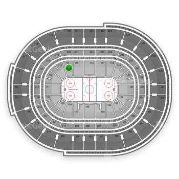 NHL at Canadian Tire Centre Section 114 View