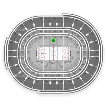 NHL at Canadian Tire Centre Section 116 View