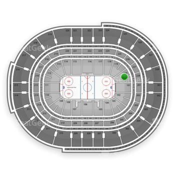 NHL at Canadian Tire Centre Section 120 View